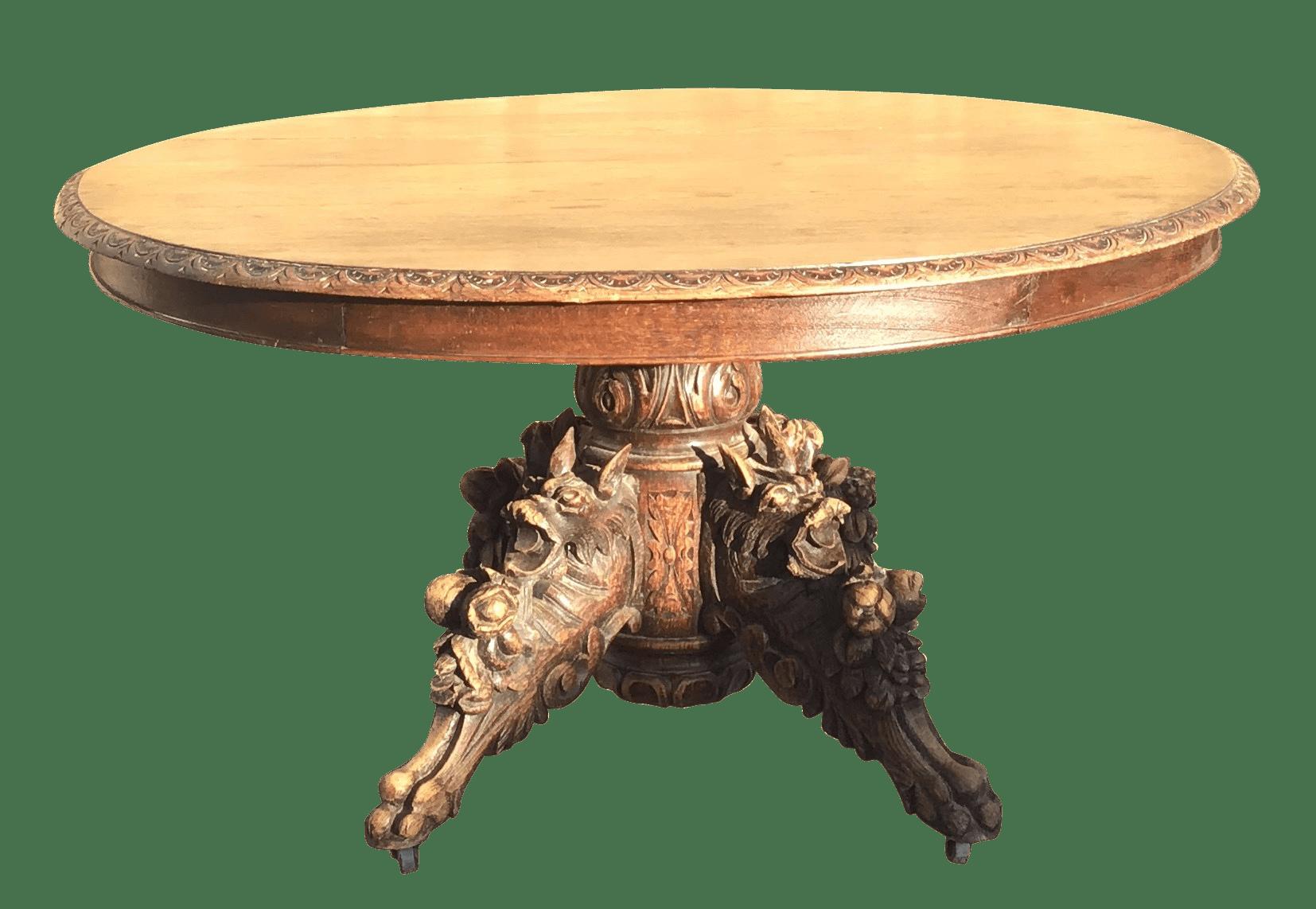 Tavolo Con Gamba Centrale Allungabile ta13746 - tavolo tondo allungabile con gamba centrale